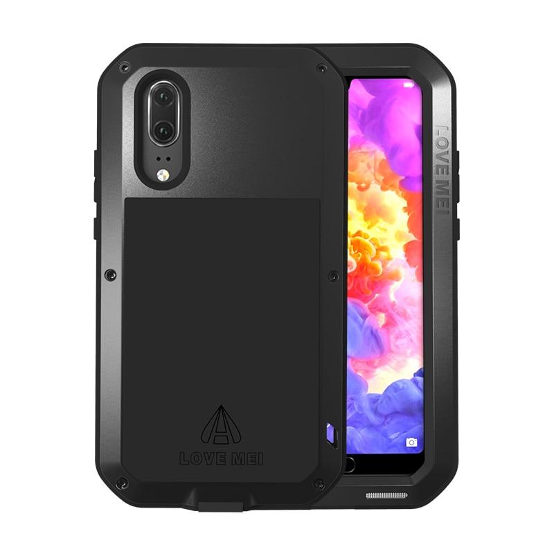 LOVE MEI-جراب معدني لهاتف Huawei P20/P20 PRO ، جراب هاتف مقاوم للصدمات ، مقاوم للغبار