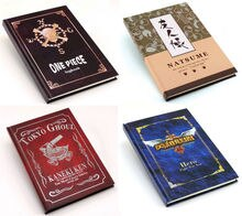 30 pcs/lot cahier cosplay Anime Naruto une pièce SAO attaque sur Titan Tokyo Ghoul Natsume logo pocketbook livraison gratuite