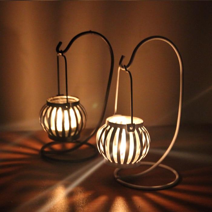 Zakka  romantic  iron  hollow  candleholder  Candlestick  candelabrum  candler  crafts and creative Home Furnishing~