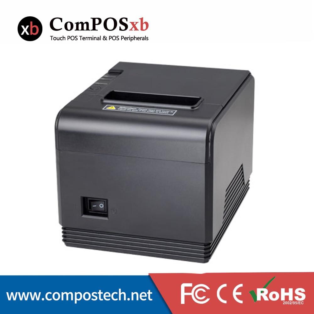 Impresora térmica de recibos de 80mm con rollo de papel térmico, impresora láser con controlador térmico pos 80