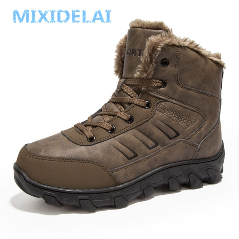 MIXIDELAI-أحذية جديدة ، للرجال, أحذية شتاء 2020 الجديدة ، أحذية خارجية ، أحذية الثلج ، أحذية راقية ، أحذية الكاحل ، الثلوج ، أحذية غير رسمية