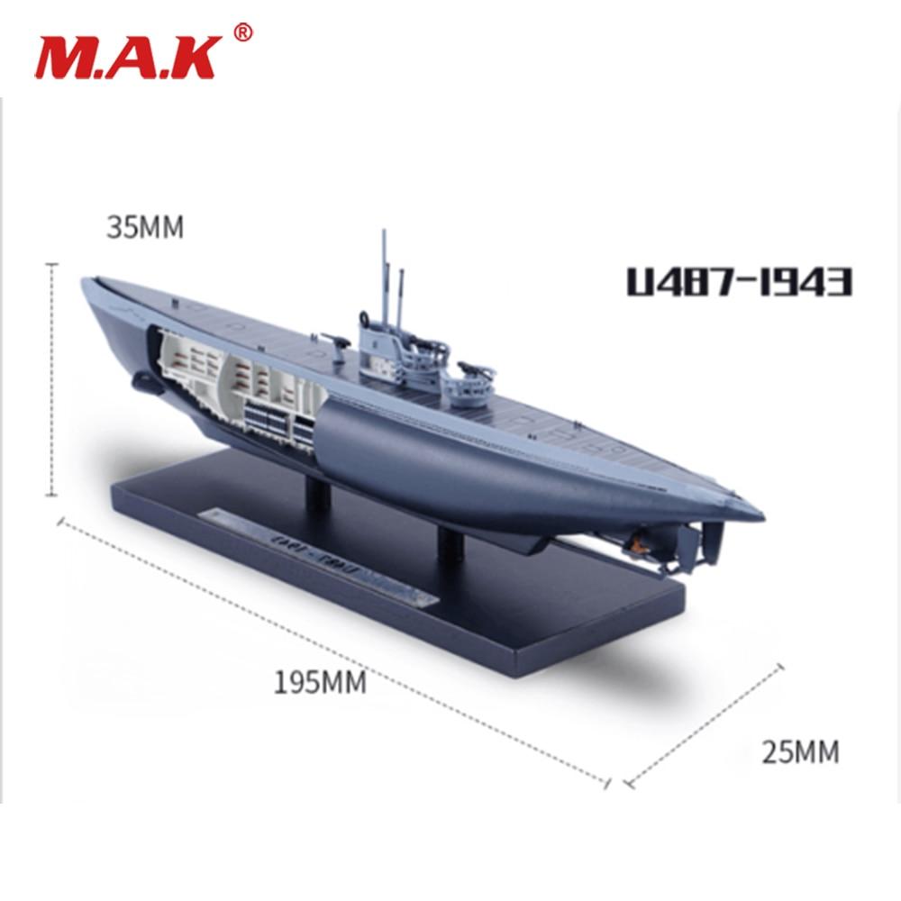 Cheap Kid Toys 1/350 Scale ATLAS U487-1943 World War II Submarine Ship Model for Children Collectible Gift