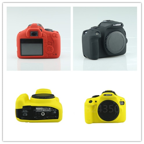 DSLR cámara Digital agradable silicona suave funda de cámara bolsa de lente para Canon 1300D bolsa suave