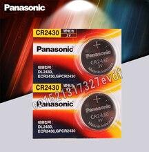 Panasonic 100% oryginalne baterie guzikowe CR2430 2 sztuk/partia 3V bateria litowa zegarek/zabawki/pilot DL2430 BR2430 KL2430