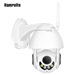 Hamrolte Mini PTZ Outdoor IP Camera 5xZoom 1080P 960P Speed Dome Camera Dual Light Audio Record Waterproof Remote Access CamHi