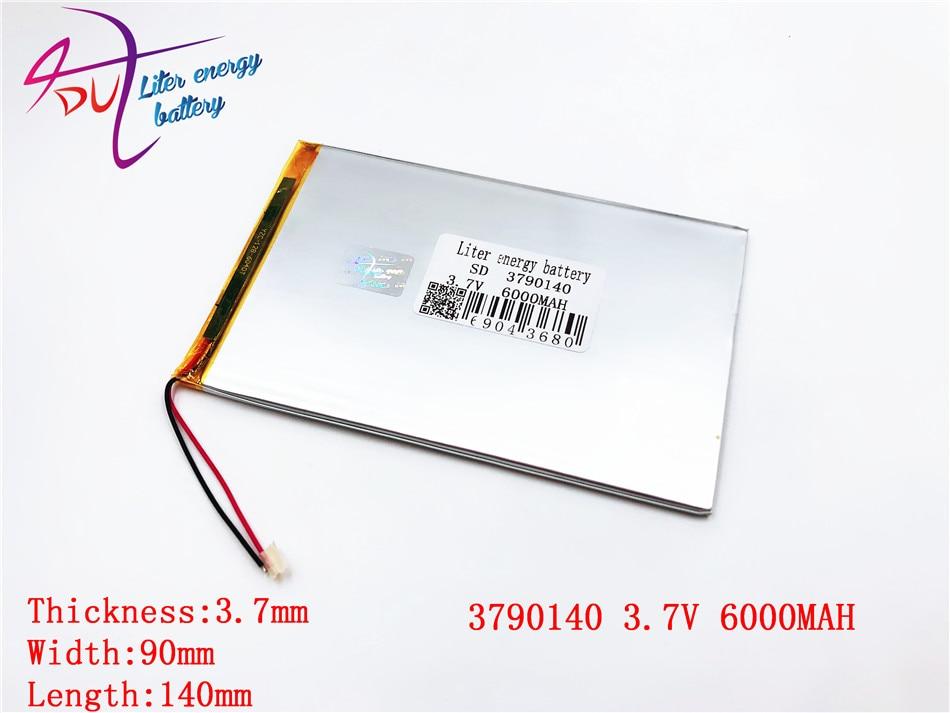 Bateria 3.7 mah da tabuleta da grande capacidade 6000 v cada marca tabuleta baterias de lítio recarregáveis universais 3790140 3590140