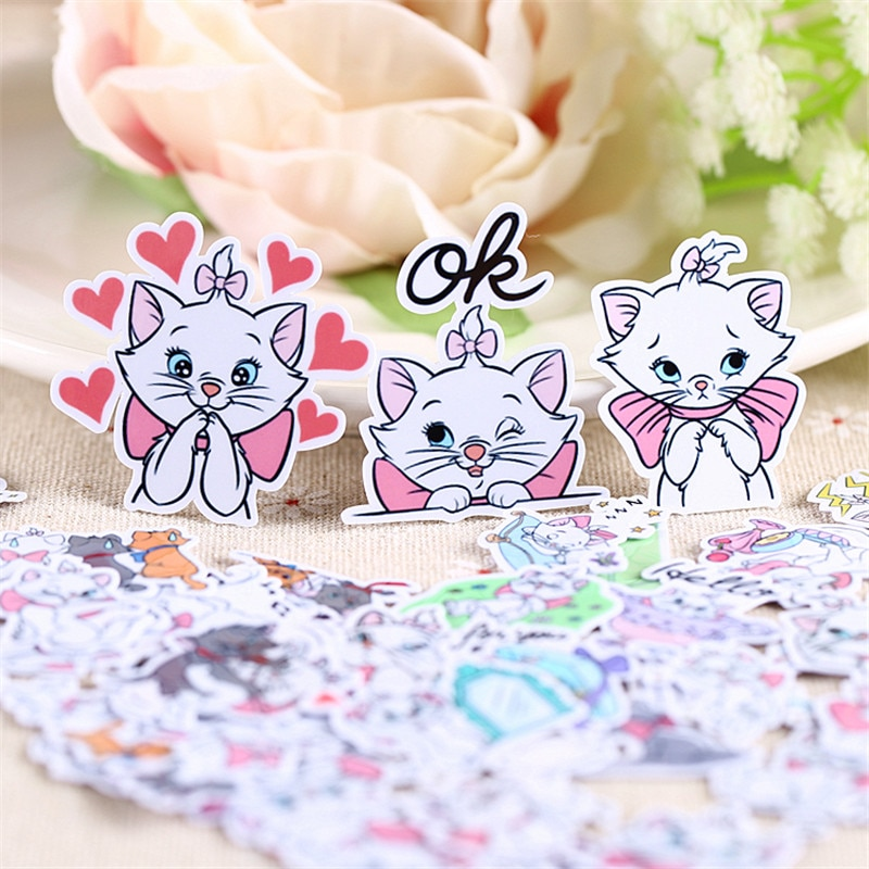 40 pcs cat expression  Sticker for Luggage Skateboard Phone Laptop Moto Bicycle Wall Guitar/Eason Stickers/DIY Scrapbooking 50pcs fallout game sticker for luggage skateboard phone laptop motor bicycle wall guitar waterproof pvc stickers