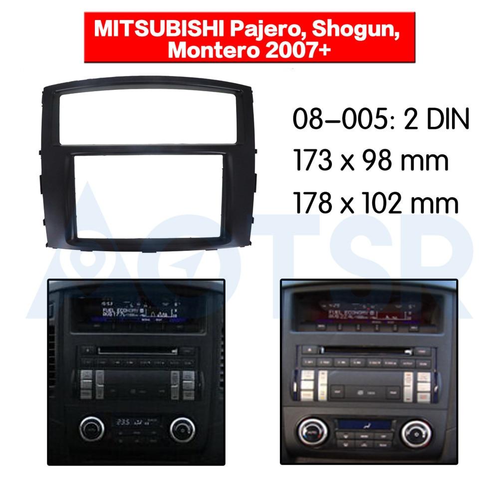 2 din Radio Fascia for MITSUBISHI Pajero Shogun Montero 2007+ Stereo Audio Panel Mount Installation Dash Kit Frame Adapter DVD