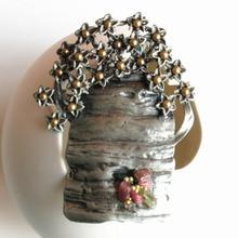 metal tree flower basket collar brooch pin pendant women men vintage retro antique fashion jewelry party birthday christmas gift