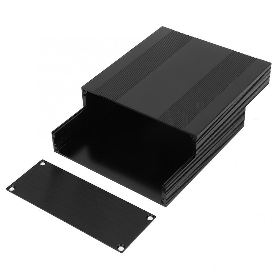 Caja de placa de circuito impreso de aluminio negro de 54x145x150mm, caja para proyecto electrónico DIY de tipo dividido