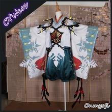 Customsized Onmyoji Snow Xue Tongzi Plum and Snow Kimono Cosplay Costume Halloween Party Uniforms Suits Japanese Kimono Costumes