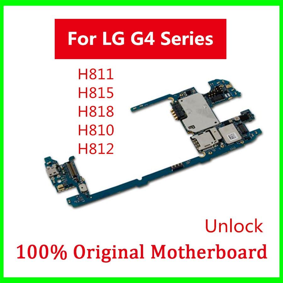 Desbloqueado de fábrica para LG G4 placa base H811 H815 H818 H810 H812 placa lógica con sistema Android placa base con Chips completos 32GB