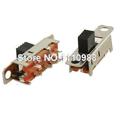 5 шт. 8 Pin PCB 3 положения Вкл/вкл DP3T 2P3T панель мини-переключатель SS23E04-G5