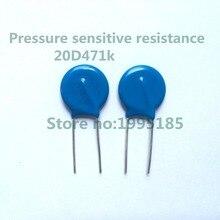 10 pcs/lot 20D471K 20D471 10% 470 V 20mm ZOV varistance 471 K 20 MM pièces dimmersion sensibles à la pression