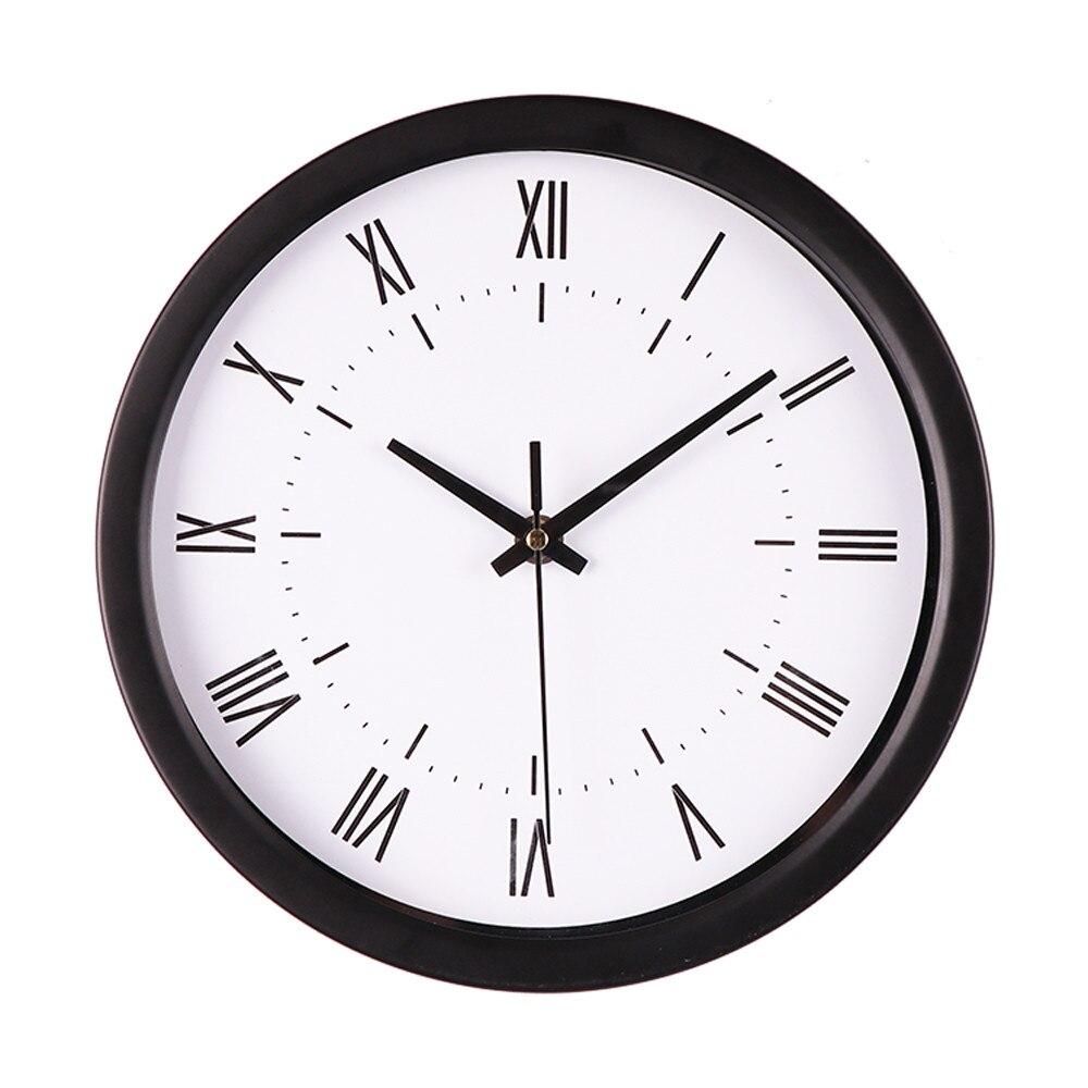 Reloj de pared decorativo silencioso, elegante y moderno, mesa con campana, relojes...
