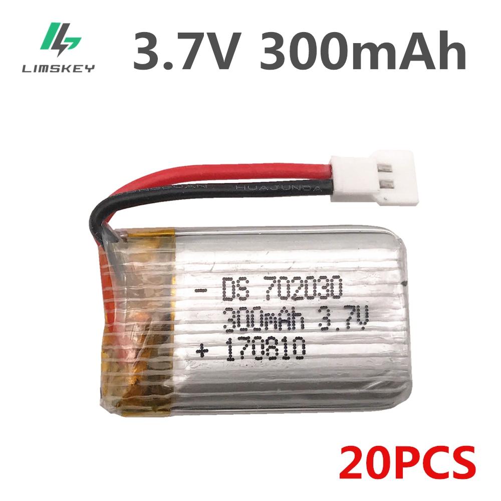 20 unids/lote 3,7 V 300mAh Lipo batería para Eachine E55 FQ777 FQ17W DiFeida DFD F180 FY530 aviones 3,7 V 300 MAH 20C batería Lipo