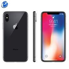 Orijinal Apple iphone X Yüz KIMLIĞI 5.8 inç Hexa Çekirdek iOS A11 3 GB RAM 64 GB/256 GB ROM 12MP Çift Arka Kamera 4G LTE Kilidini iphone x