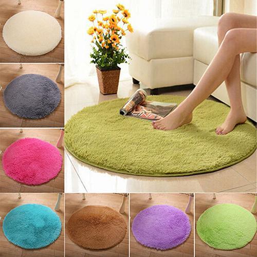 HOT SALE! Home Decor Soft Bath Bedroom Non-slip Floor Shower Rug Yoga Plush Round Mat carpet Home Textile