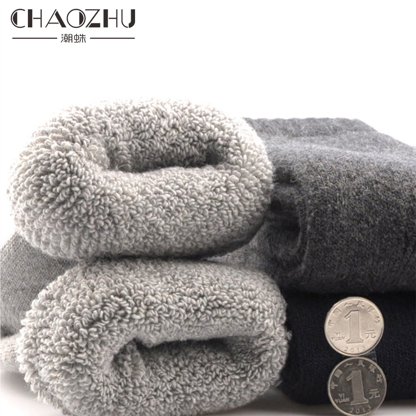 CHAOZHU Men's Winter Socks Canada 30 Degrees Below Zero Resist Cold Wool Socks For Men Thicken Pile Socks kim stanley robinson fifty degrees below