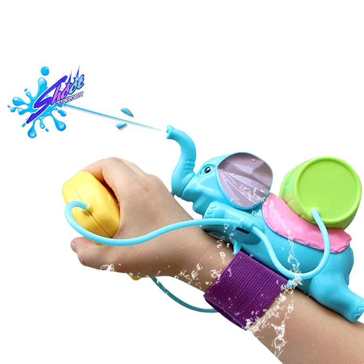 [Divertido] pistola de agua de verano juego de batalla elefante pistola de agua juguete juego de disparar con agua muñeca pistola de agua portátil de juguete