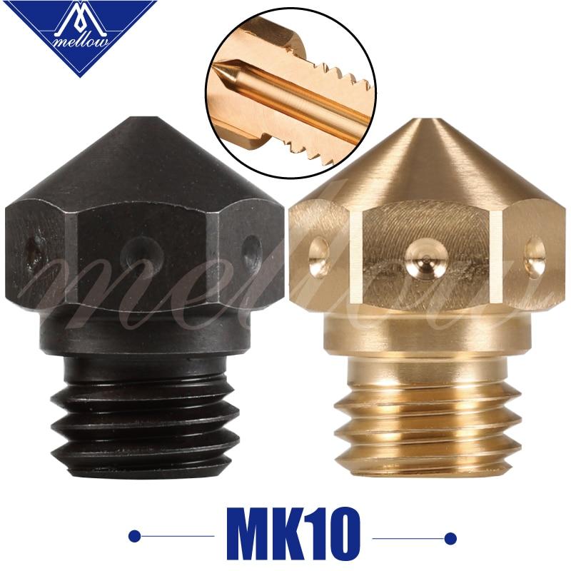 1pcs Mellow High Quality Micro Swiss Mk10 Brass/hardened Steel M7 Nozzle For 3d Printer Flashforge/ctc/wanhao Swiss Hotend Kit