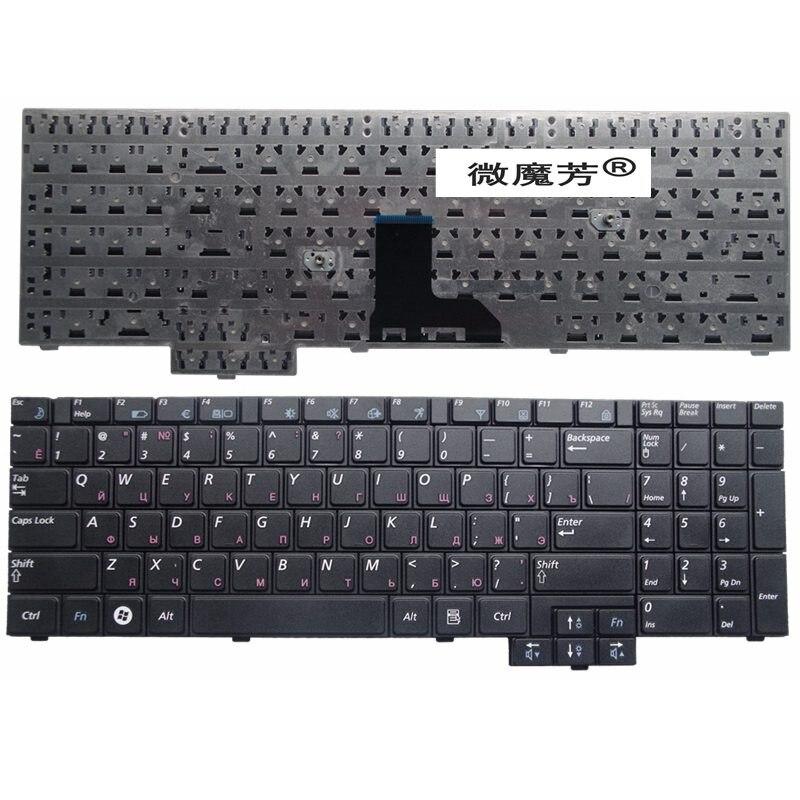 RU Para Samsung NP-R519 R519 R719 NP-R719 R538 R618 P580 P530 Laptop Keyboard Russo Preto COM NUMBERPAD