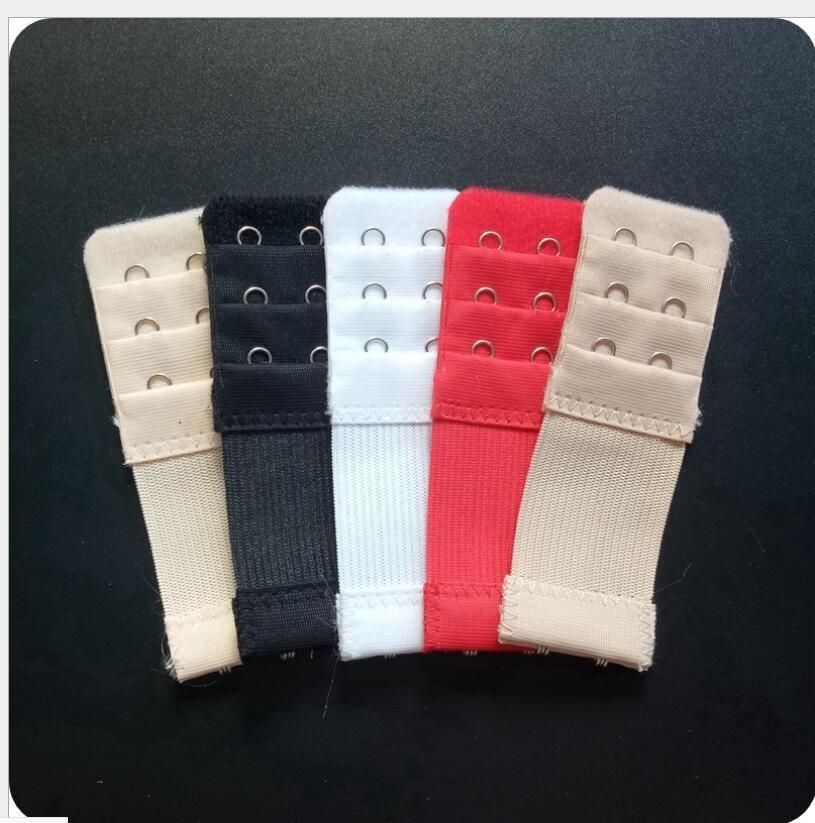 2 pieces / 3 rows 2 hook stainless steel stretch bra extender underwear extension buckle adjustable women's bra rear buckle
