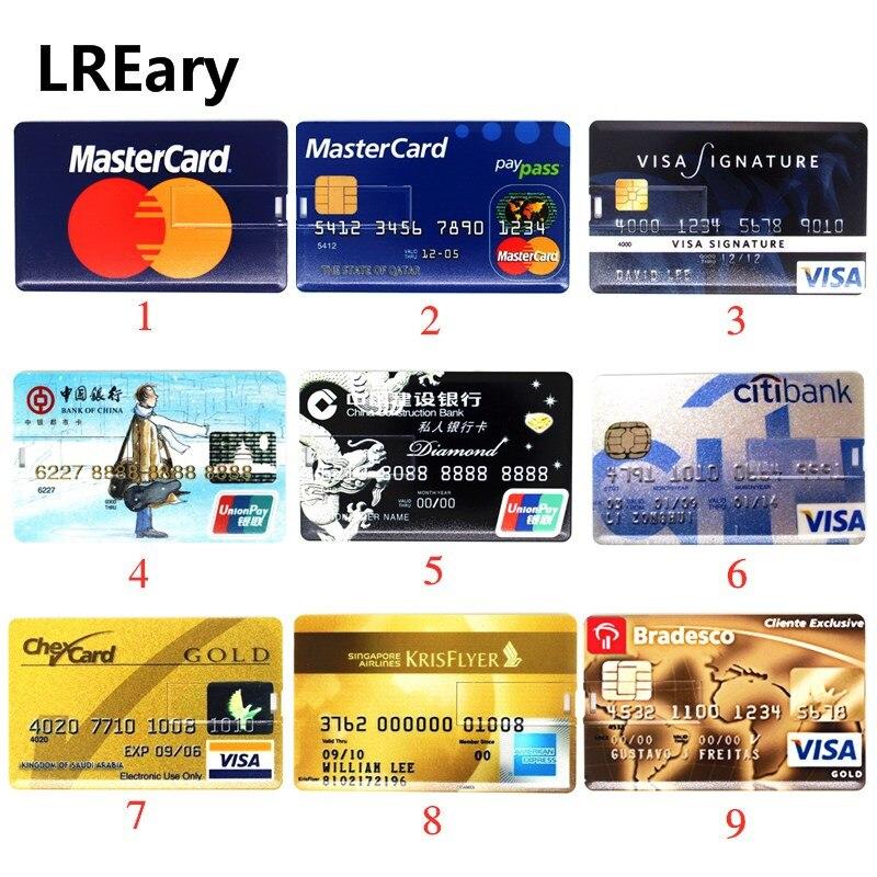 Carte bancaire Super mince clé USB cartes de crédit Citi lecteur Flash USB 64gb clé USB 4GB 8GB 16GB 32GB lecteur de stylo MasterCard