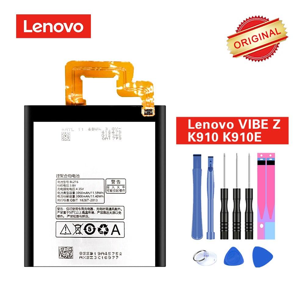 Оригинальный аккумулятор BL216 для Lenovo VIBE Z K910 K910E K6 X910 Аккумулятор akku 3000 мАч + Инструменты