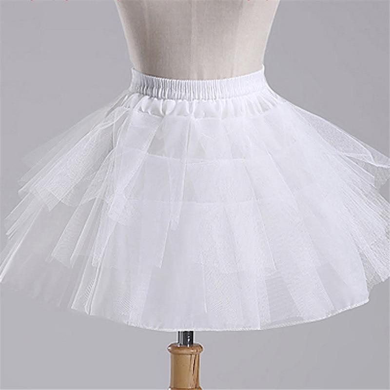 Top Quality Stock White Black Ballet Petticoat Tulle Ruffle Short Crinoline Bridal Petticoats Lady Girls Child Underskirt jupon