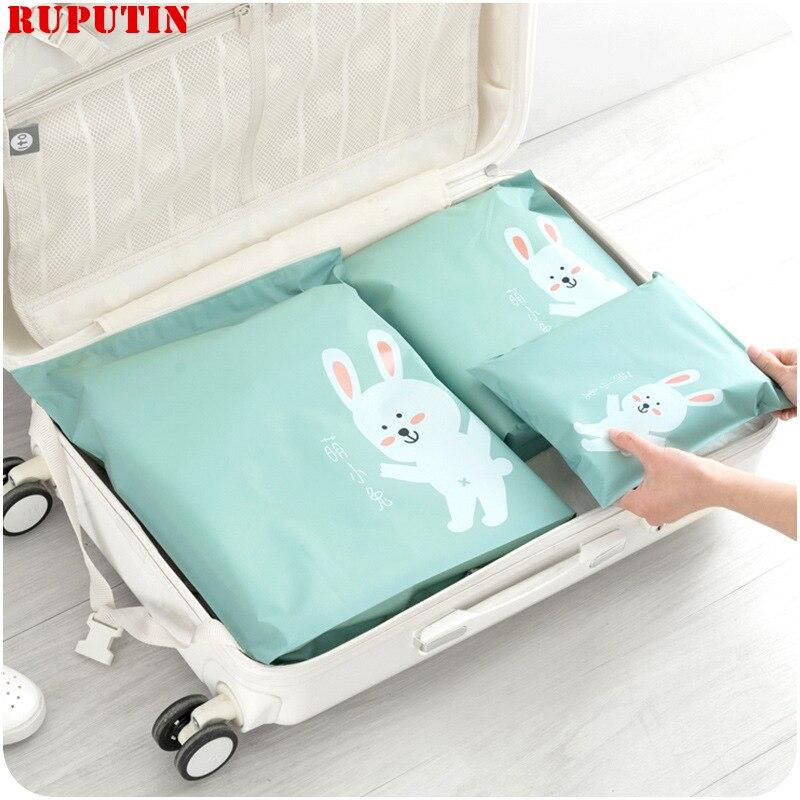 Ruputin 3 pçs/set organizador de viagem mala roupas kit acabamento caso beleza compõem organizador saco armazenamento acessórios viagem