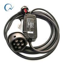 16A-EVSE IEC 62196 ty2 EV   Réglable, courant, 16A 10A 8A, maison EV, chargeur de voiture, IP65 Portable avec prise UK