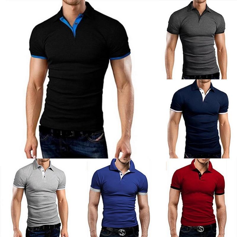 Marca Oeak, camisa Polo para hombre, verano 2019, Polo de moda de manga corta para hombre, camiseta Polo Casual ajustada lisa, camiseta Polo de Color, gran oferta