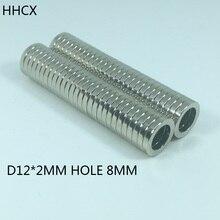 10 pièces anneau N35 fort NdFeB aimant 12*2mm trou 8mm Permanent néodyme aimant 12mm x 2mm
