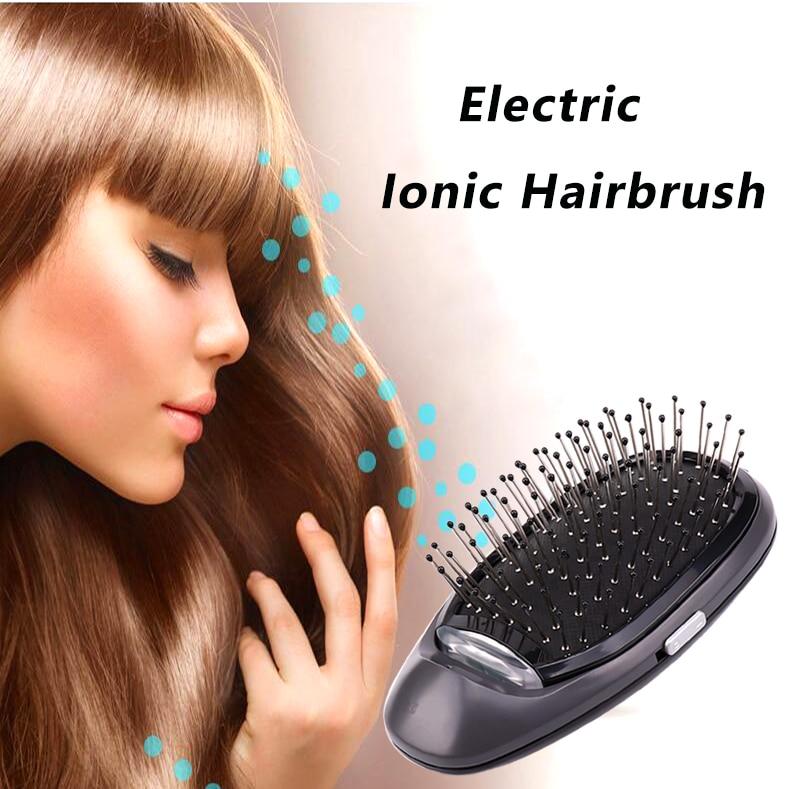 VIP Electric Ionic Styling Hairbrush Ions Hair Brush Comb Hair Modeling Magic Beauty Massage Hairbrush Makes Hair Softer Shinier
