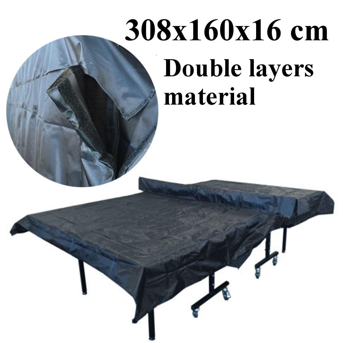 Accesorios de sombra impermeable cubierta de almacenamiento de mesa de tenis de mesa cubierta de mesa de protección al aire libre de interior cubierta de mesa de tenis de mesa