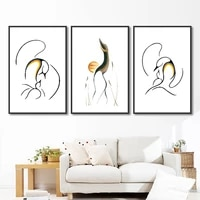 no frame canvas prints nordic poster modern minimalist abstract swan painting wall art pictures for living room home decoration