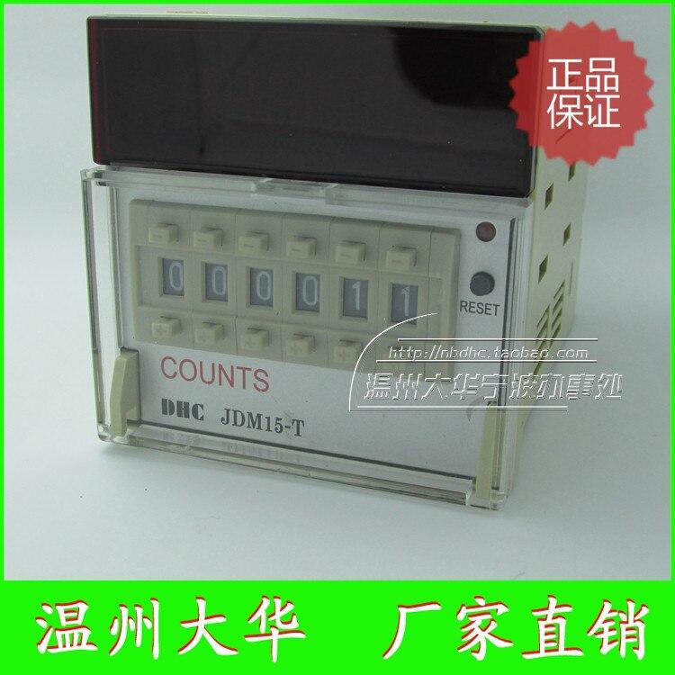 Genuino Wenzhou Dahua CUONTS JDM15-T seis adición preestablecido el reinicio del botón del panel del contador