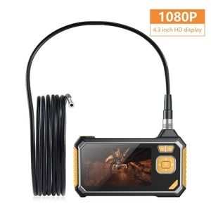 4.3 Inch HD 2MP 1080P Water-proof IP67 Handheld Endoscope Camera Rigid Cable CMOS Borescope Inspection Snake Scope Pipescope