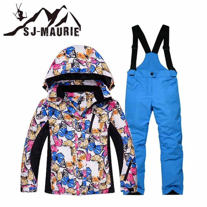 Зимний детский лыжный костюм Лыжный Спорт куртки Комплект для мальчиков и