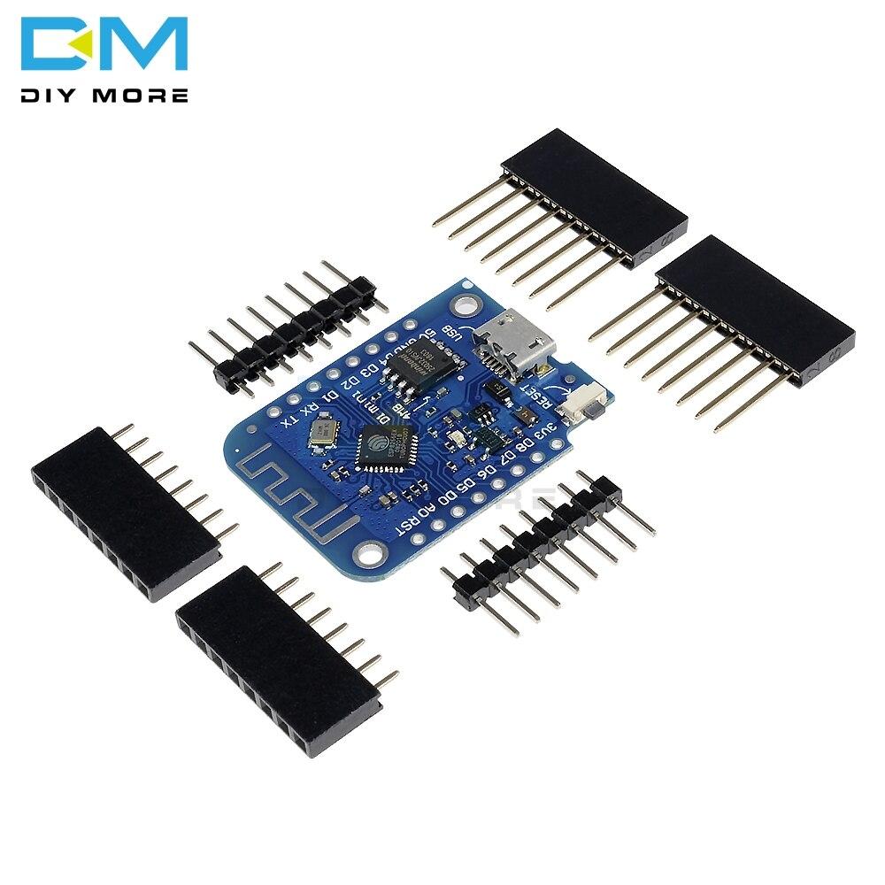 Wemos D1 Mini V3.0 3,0 беспроводной WIFI Интернет вещей Плата развития ESP8266 CH340 CH340G 4MB для Arduino Nodemcu V2