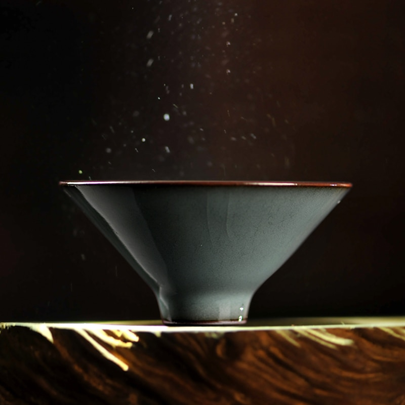 Xícara de Chá Copo de Chá para a Mão Mestre de Chá Copo de Kung Longquan Celadon Porcelana Invisível Copo um Puro fu li
