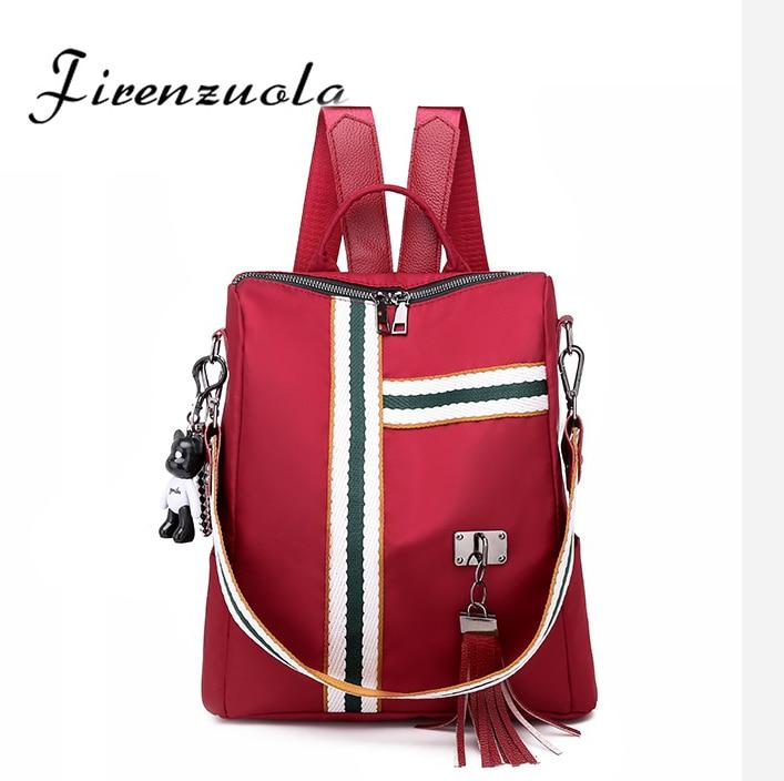À prova dwaterproof água feminina casual mochila anti roubo saco de escola coreano moda viagem beg #783