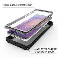 Armadura 360 protección completa para Samsung Galaxy S10 S10 Plus funda transparente PC + TPU + funda de teléfono de silicona a prueba de golpes funda de exterior