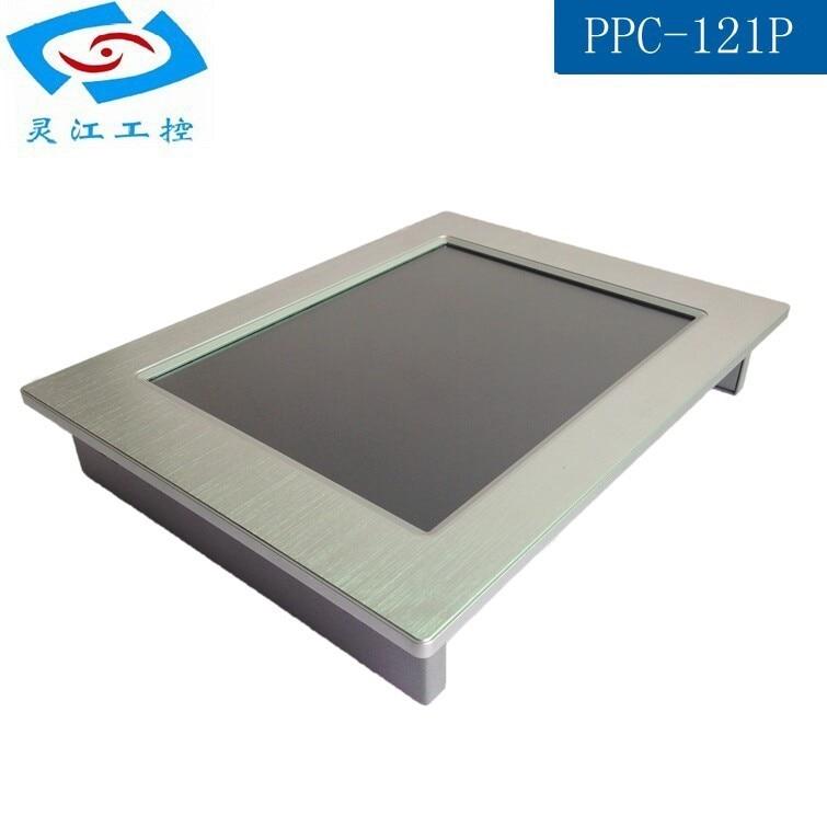 Sin ventilador de 12,1 pulgadas con pantalla táctil gran venta todo en uno pc panel industrial pc soporte windows10 os