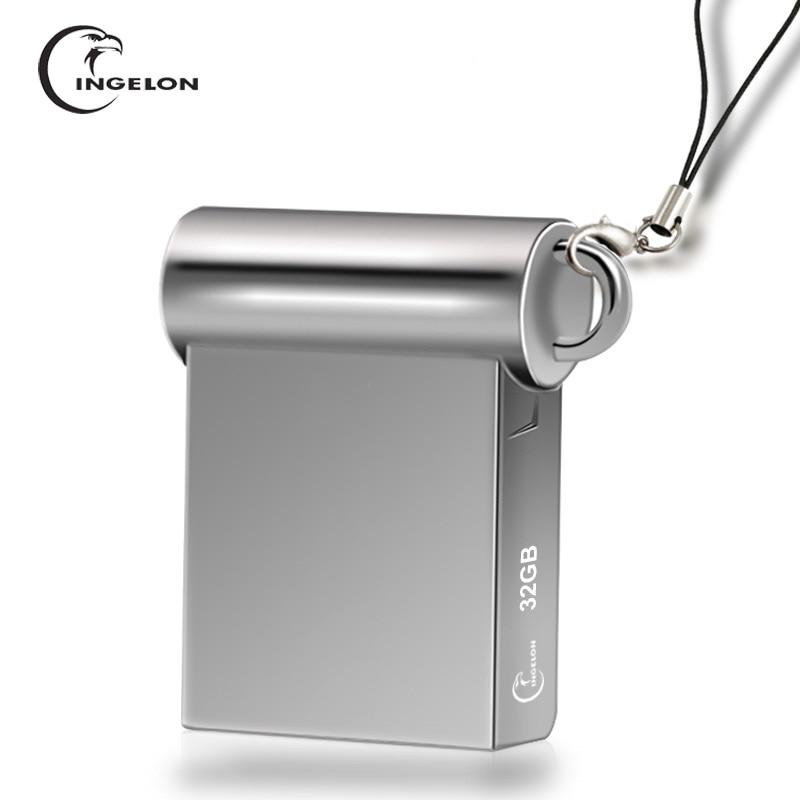 Ingelon Mini Disk On Key 8 16 32 gb Metall USB-Stick 32 GB Usb-Stick Personalisierten DJ Cle USB schlüssel für Computer Dropshipping