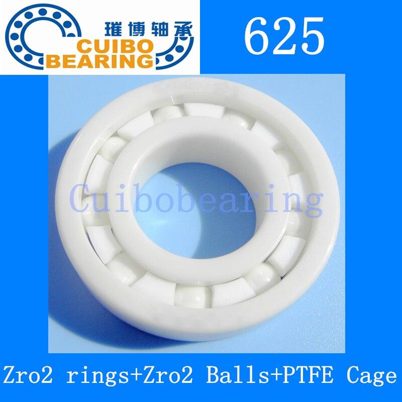 10 pçs/lote 625 completa de rolamentos de Cerâmica 5x16x5mm Zirconia ZrO2 rolamentos de Cerâmica