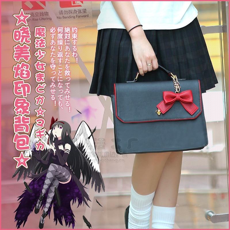 Sac à bandoulière Puella Magi Madoka Magica Akemi Homura Cosplay sac à bandoulière étudiant japonais JK uniforme sac à main femme Kawaii