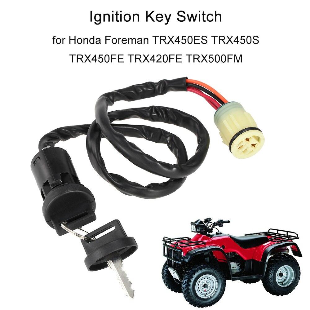 Interruptor de llave de encendido para Honda Forster TRX450ES TRX450S TRX450FE TRX420FE TRX500FM
