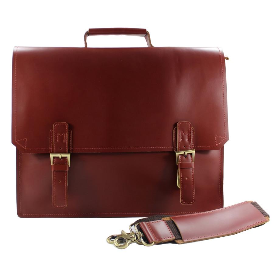 High Class Italian Genuine Leather Briefcase Men Business Bag Tote Laptop Messenger Shoulder